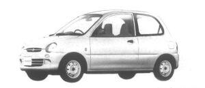 Mitsubishi Minica 3 door Pf 1995 г.
