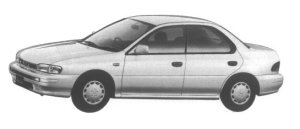 Subaru Impreza 4 door HardTop Sedan 1.5L CS Extra 1995 г.