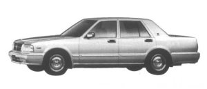 Nissan Gloria 4 door Sedan V30E Brougham VIP 1995 г.