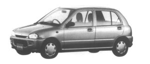 Subaru Vivio 5 door Sedan el-S 1995 г.