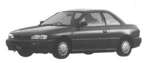 Subaru Impreza 2 door Coupe 1.5L Retna 1995 г.