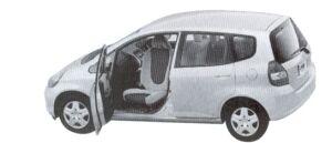 Honda Fit ALMAS, SwivePassengerSeat version A type 2002 г.