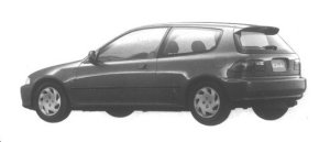 Honda Civic 3 DOORS VTi 1994 г.