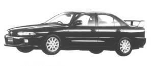 Mitsubishi Galant V6 2.0 DOHC 24V TWIN TURBO VR-4 1994 г.