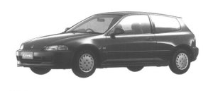 Honda Civic 3 DOORS ETi 1994 г.