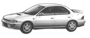 Subaru Impreza 4WD HARD TOP SEDAN 2.0L WRX 1994 г.