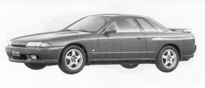 Nissan Skyline 2DOOR SPORTS COUPE GTS-T TYPE-M 1991 г.