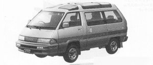 Toyota Masterace Surf 4WD GRAND SALOON 2000 DIESEL TURBO 1991 г.