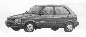 Subaru Justy 4WD 5DOOR MYME 1991 г.