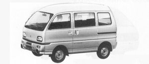 Mitsubishi Bravo 2WD HIGH ROOF MX 1991 г.