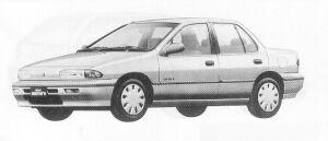 Isuzu Gemini SEDAN 1500 GASOLINE  C/C-X 1991 г.