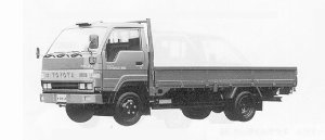 Toyota Toyoace WIDE CAB FULL J/L LONG DECK 2T DIESEL 1991 г.