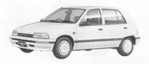 Daihatsu Charade WILL DIESEL TURBO 1.0  5DOOR 1991 г.