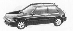 Mazda Familia 3DOOR HB 4WD 1800 DOHC TURBO GT-X 1991 г.