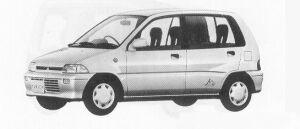 Mitsubishi Minica 5DOOR MG 1991 г.