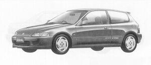 Honda Civic 3DOOR SIR-II 1991 г.