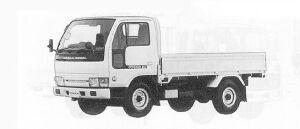 Nissan Diesel Condor 20 STANDARD, HIGH FLOOR 1991 г.