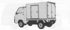 Subaru Sambar Truck 2WD COOLING VAN 1991 г.