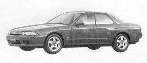 Nissan Skyline 4DOOR SPORTS SEDAN GTS-T TYPE M 1991 г.