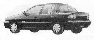 Isuzu Gemini SEDAN 1700 TURBO DIESEL C/C-X 1991 г.