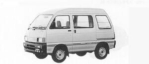Daihatsu Hijet VAN 4WD HIGH ROOF, HIGH CUSTOM 1991 г.