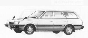 Subaru Leone 4WD ESTETO VAN 1.6L LC 1991 г.