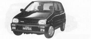 Daihatsu Mira 5DOOR J-4WD 1991 г.