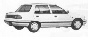 Daihatsu Charade SOCIAL SG LIMITED 1991 г.