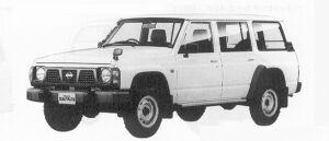Nissan Safari VAN EXTRA STANDARD ROOF DX 4200 DIESEL 1991 г.