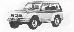 Nissan Safari WAGON HARD TOP  KINGS ROAD 4200 DIESEL 1991 г.