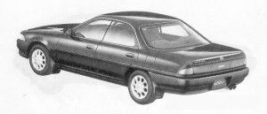 Toyota Corona Exiv 2.0FE DUAL MODE 4WS 1991 г.