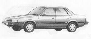 Subaru Leone 4DOOR SEDAN 1.6L  MAYA II 1991 г.