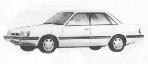 Subaru Leone 4WD 4DOOR SEDAN 1.6L  MAYA II 1991 г.