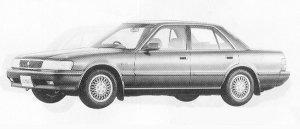 Toyota Mark II SEDAN 3.0 GRANDE G 1991 г.