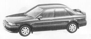 Mazda Familia 4DOOR SEDAN 4WD 1800 DOHC TURBO GT-X 1991 г.