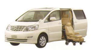 Toyota Alphard V Welcab, Side Lift-up Seat Car (Detachable type) 2005 г.