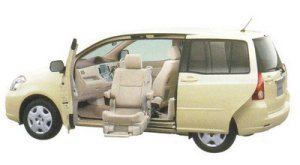 Toyota Raum Welcab Passenger Lift-up Seat Car (Panorama type) A type 2005 г.