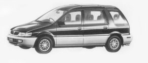 Mitsubishi Chariot SUPER MX CRYSTAL ROOF 2WD 1996 г.