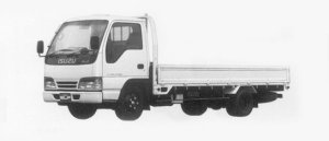 Isuzu Elf 2T HIGH CAB, FLAT LOW,  LONG BODY 1996 г.
