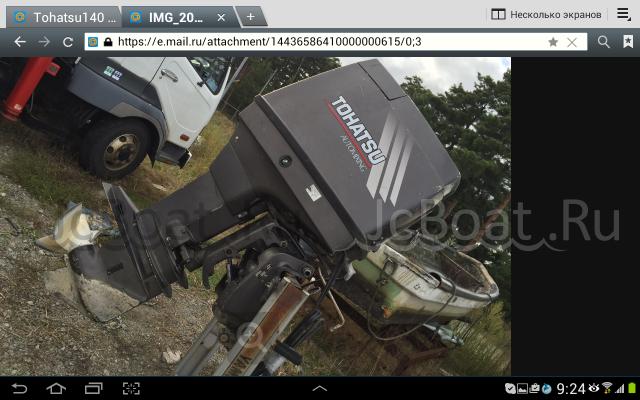 мотор подвесной TOHATSU 140 нога L,с дистанцией! 2005 года