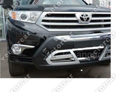 Накладка на бампер на Toyota Highlander во Владивостоке